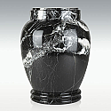 Small Black Zebra Marble Cremation Urn