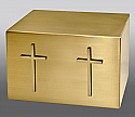 Twin Crosses Companion Bronze Cremation Urn