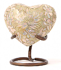 Etienne Opal Heart Keepsake Cloisonne Cremation Urn