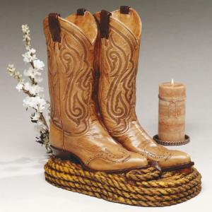 Cowboy Boots Individual Cremation Urn