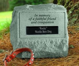 Headstone Cremation Urn and Personalized Marker
