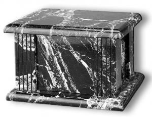 Rectangular Black Natural Marble Cremation Urn