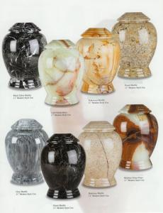 Modern Style Marble Cremation Urns