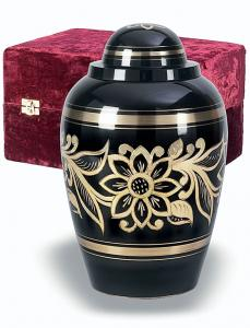 Ebony Brass Cremation Urn