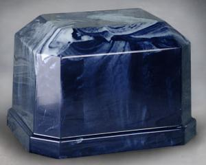 Navarro Navy Blue Marble Single Adult Cremation Urn
