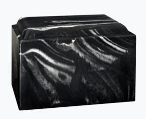 Freedom Black Marble Adult Cremation Urn