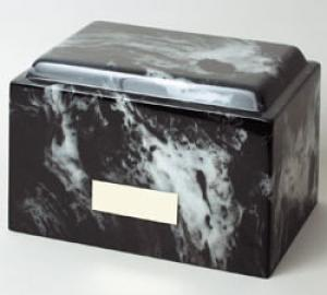 Freedom Black Marble Adult Cremation Urn