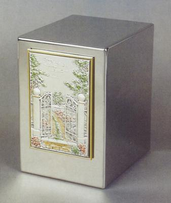 Stainless Steel Metal Cremation Urn - Way Home