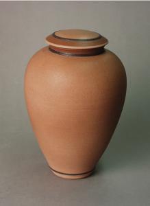 Porcelain Biodegradable Tan Cremation Urn