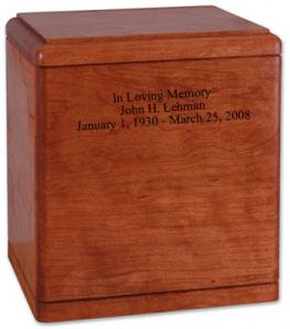 Presidents Value Hardwood Cremation Urn