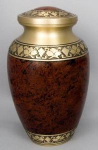 Smoky Brass Alexa II Cremation Urn