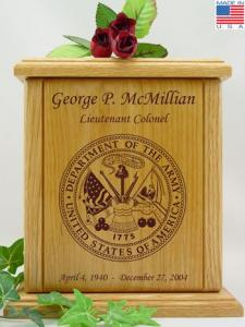 US Army Cremation Urn