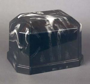 Navarro Black Cultured Marble Cremation Urn