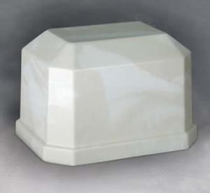 Navarro White/Cream Cultured Marble Cremation Urn