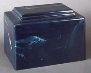 York Navy Cultured Marble Cremation Urn