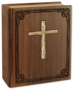 Hardwood Bible Cremation Urn