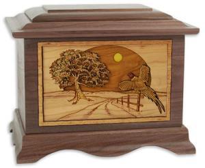 Pheasant Flying Cremation Urn