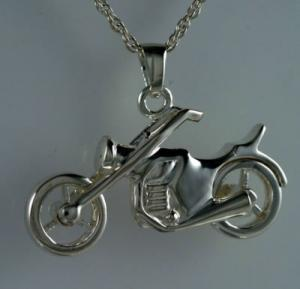 Motorcycle Pendant Memorial Cremation Urn