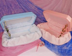 Pink or Blue Medium Pet Caskets