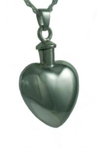 Classic Puffed Heart Cremation Pendant Urn