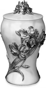 Lilies of Pewter Cremation Urn