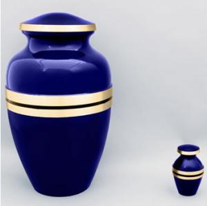 Cobalt Brass Cremation Urn