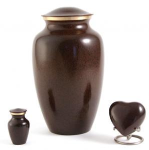 Deep Brown Brass Cremation Urn