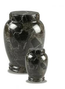 Traditional Dark Green Marble Cremation Urns