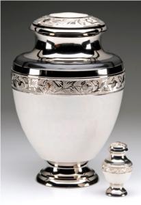 Elegant White Cremation Urn