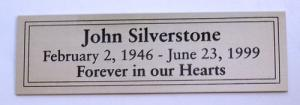 Silver Nameplate with Double Border