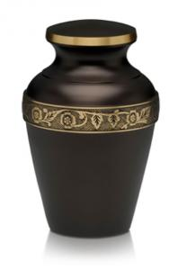 Deep Brown Adult Brass Cremation Urn