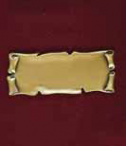 Scroll Brass Name Plate