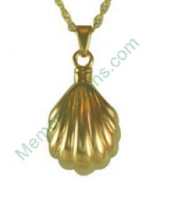 Gold Seashell Pendant