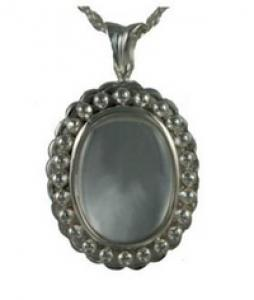 Oval Glass locket Pendant Cremation Urn