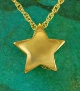 Gold star Pendant Cremation Urn