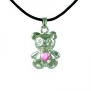 Bear with Pink Mother of Pearl Pendant Ern