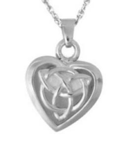 Celtic heart pendant jewelry Cremation Urn