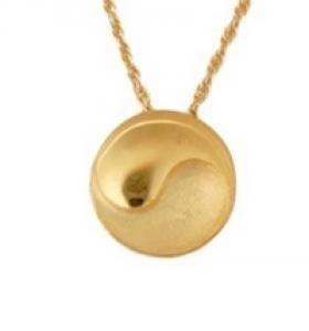 Gold ying yang pendant Cremation Urn