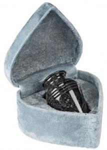 Black Grain Marble Keepsake Cremation Urn