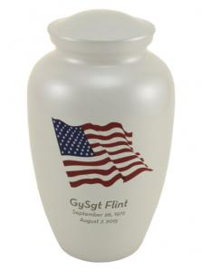 American Flag Stainless Steel Cremation Urn