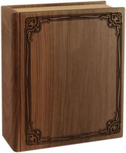 Walnut Book Cremation Urn