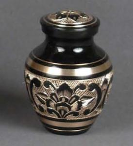 Biarritz Etched Brass Keepsake Cremation Urn