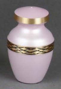 Calais Soft Pink Brass Keepsake Cremation Urn