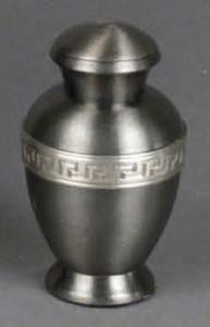 Classic Greek Key Brass Keepsake Cremation Urn