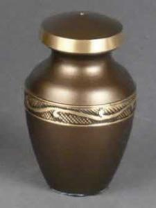 Phonecian Brass Keepsake Cremation Urn