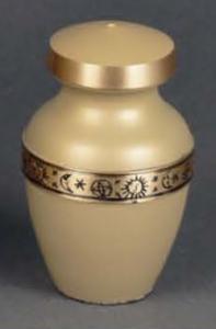 Zodiac Brass Keepsake Cremation Urn