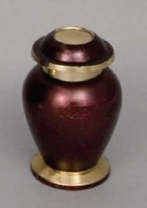 Cardinal Red Brass Keepsake Cremation Urn