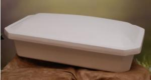 Medium White Pet Casket