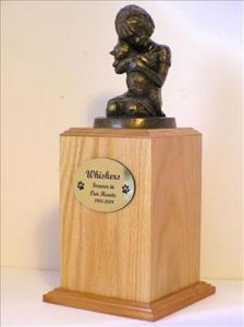 Always My Kitty Oak Cremation Urn