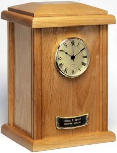 Naturale Hardwood Clock Tower Cremation Urn